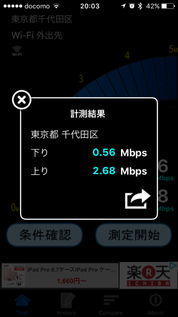 JR-EAST-FREE-WIFIの速度