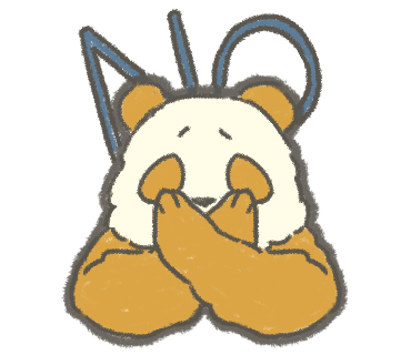 NOという黄金パンダ